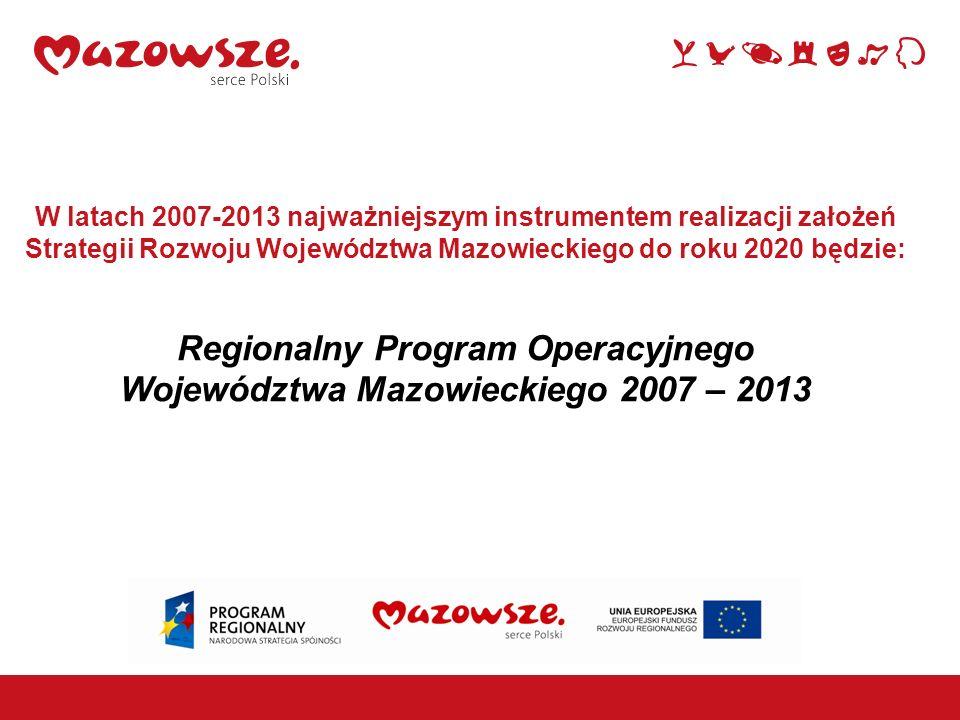 Regionalny Program Operacyjnego Województwa Mazowieckiego 2007 – 2013