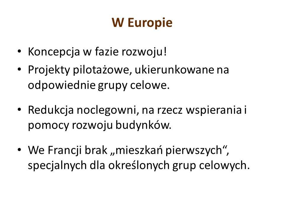 W Europie Koncepcja w fazie rozwoju!