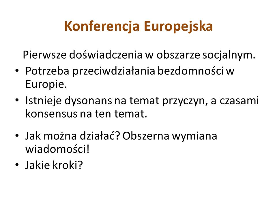 Konferencja Europejska