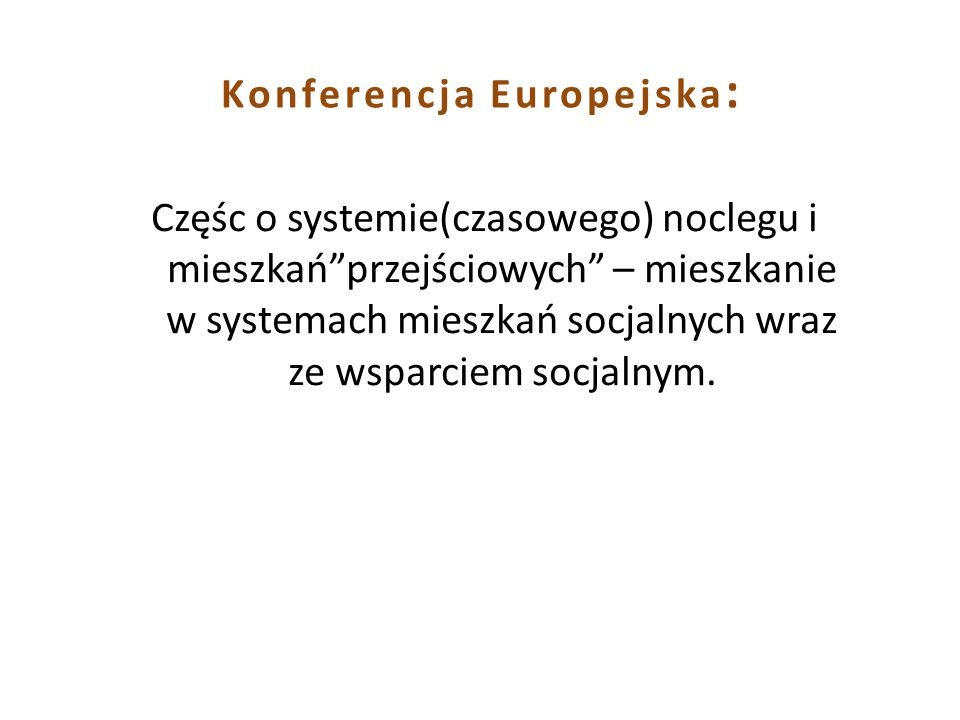 Konferencja Europejska: