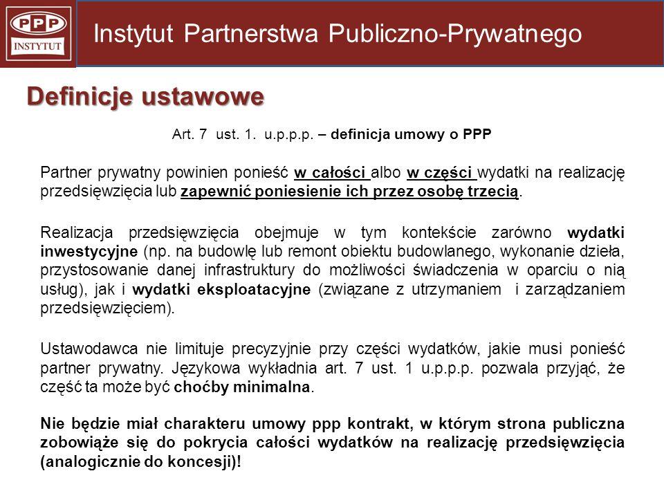 Art. 7 ust. 1. u.p.p.p. – definicja umowy o PPP