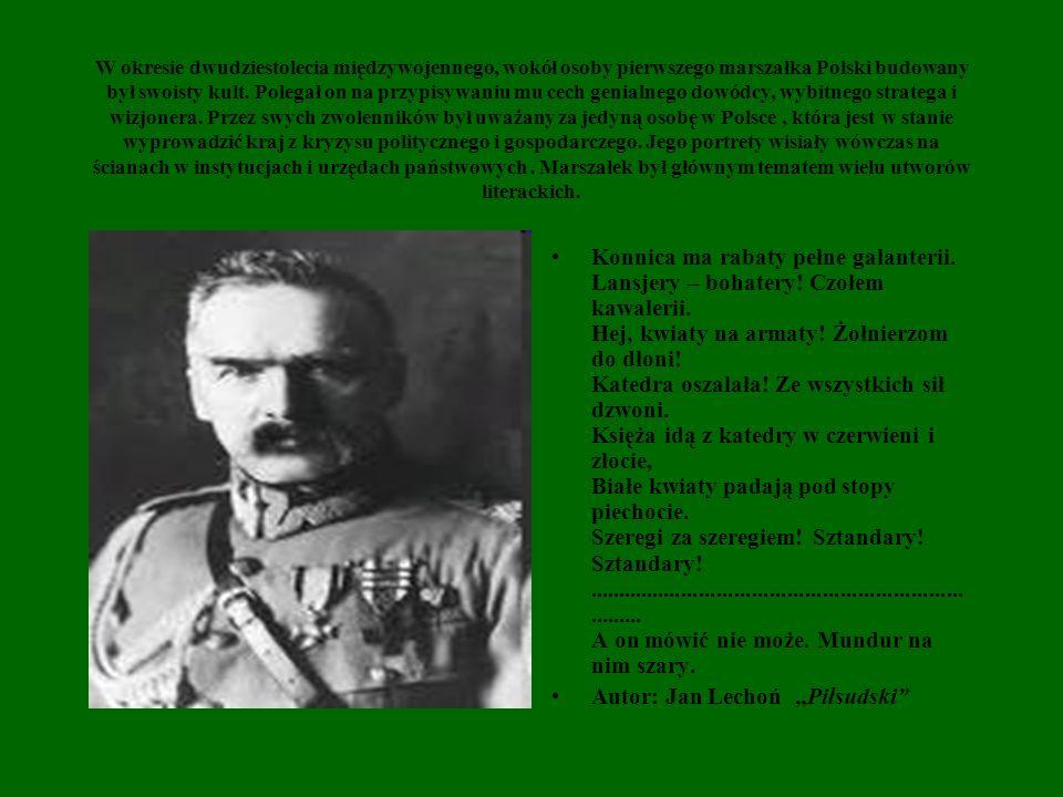 """Autor: Jan Lechoń """"Piłsudski"""