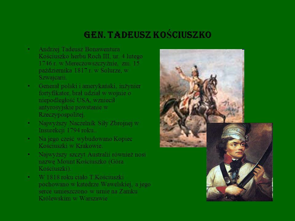 Gen. TADEUSZ KOŚCIUSZKO