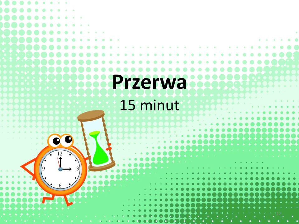 Przerwa 15 minut