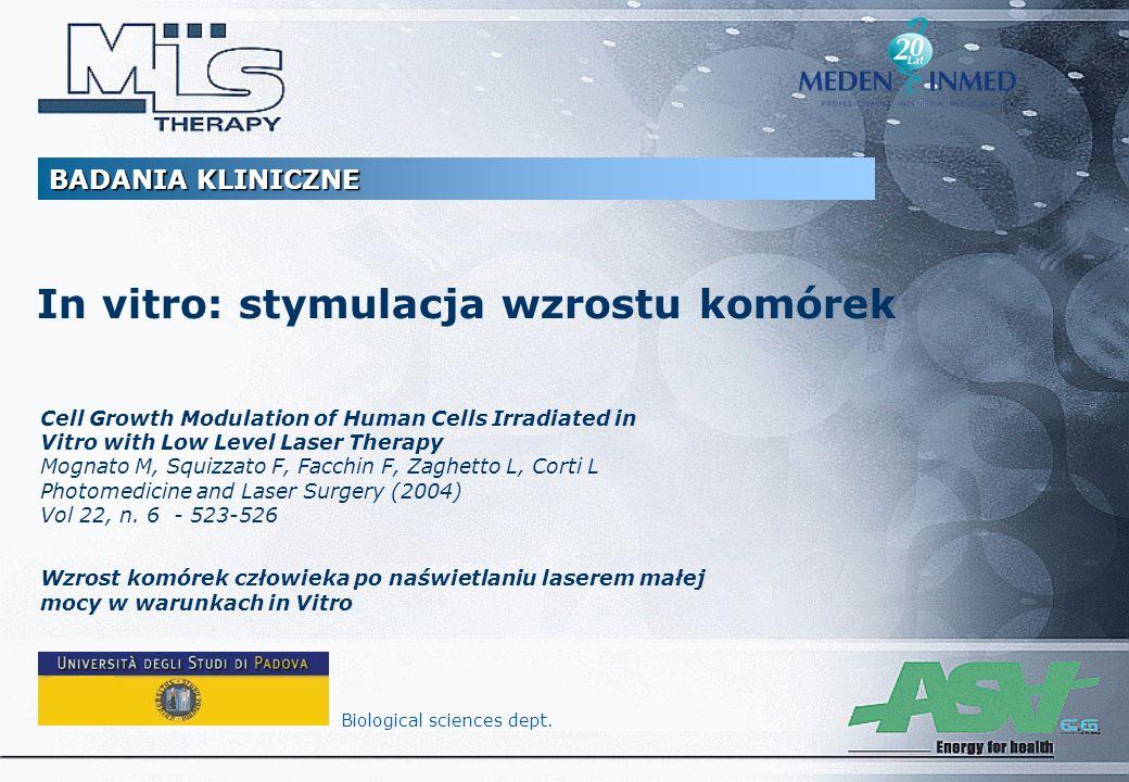 In vitro: stymulacja wzrostu komórek