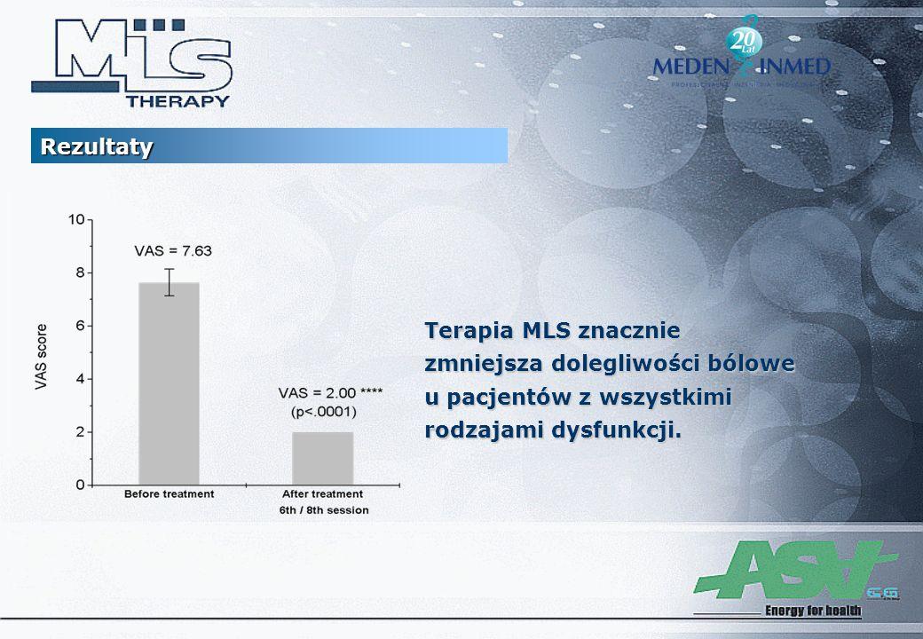 Rezultaty Terapia MLS znacznie. zmniejsza dolegliwości bólowe.