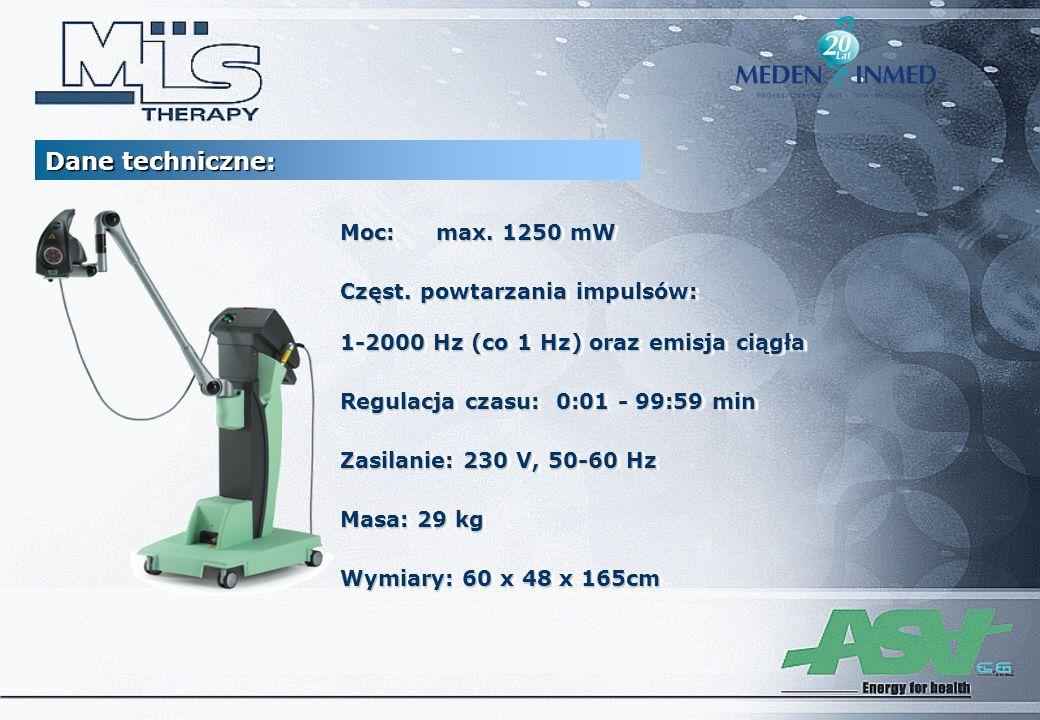 Dane techniczne: Moc: max. 1250 mW