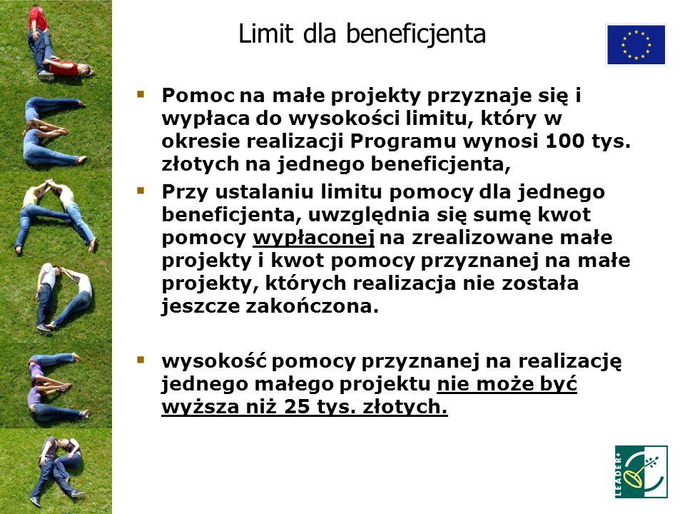 Limit dla beneficjenta