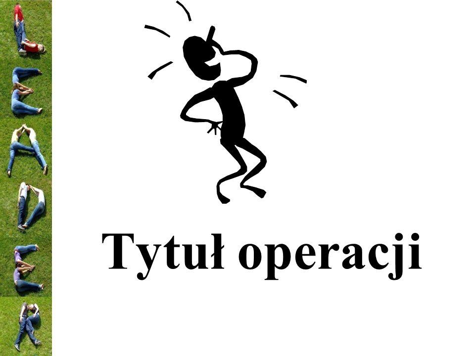 Tytuł operacji