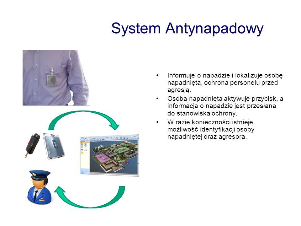 System Antynapadowy Informuje o napadzie i lokalizuje osobę napadniętą, ochrona personelu przed agresją.