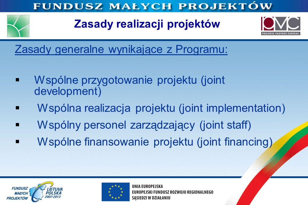 Zasady realizacji projektów