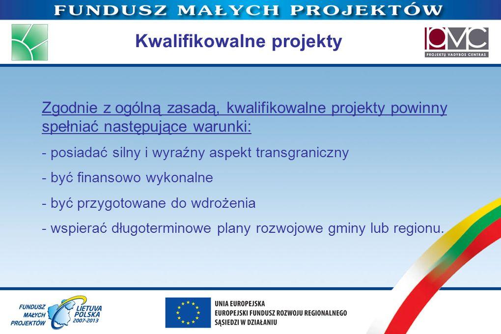 Kwalifikowalne projekty