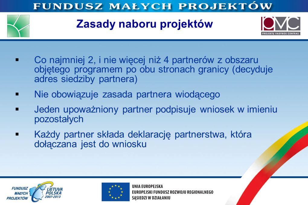 Zasady naboru projektów