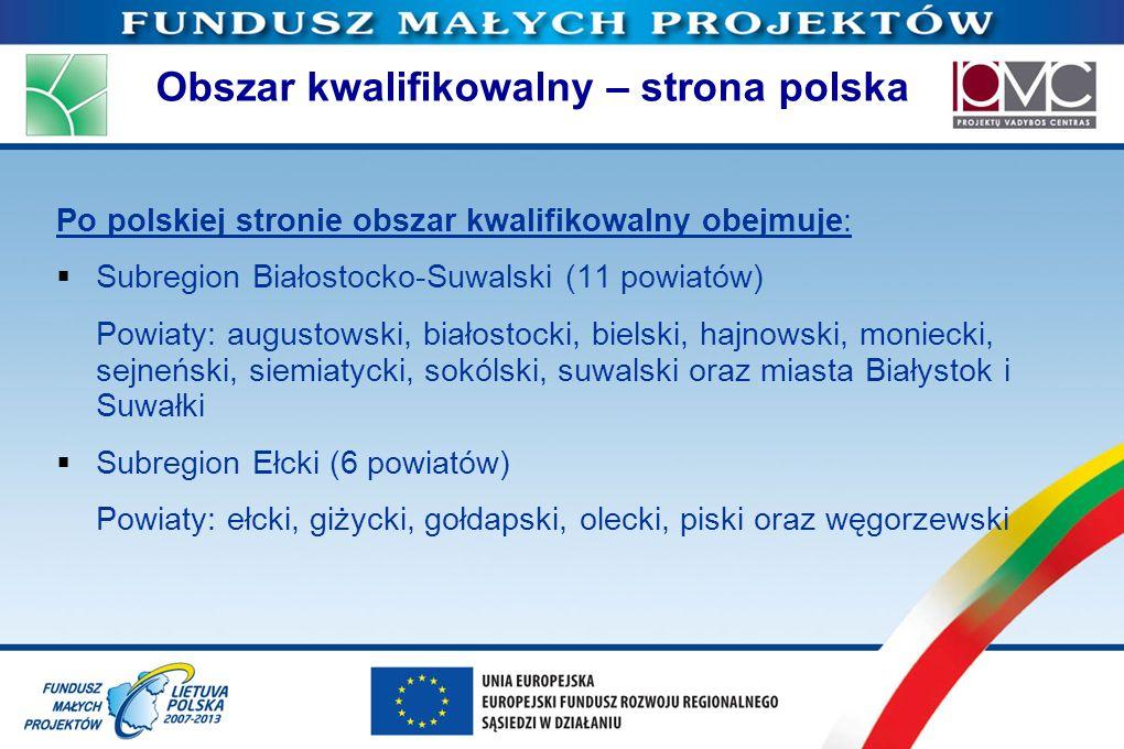 Obszar kwalifikowalny – strona polska