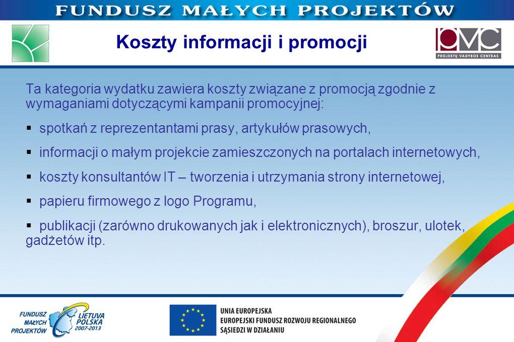 Koszty informacji i promocji