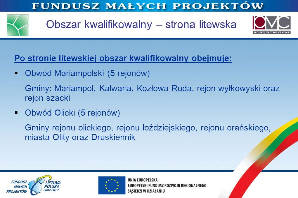 Obszar kwalifikowalny – strona litewska