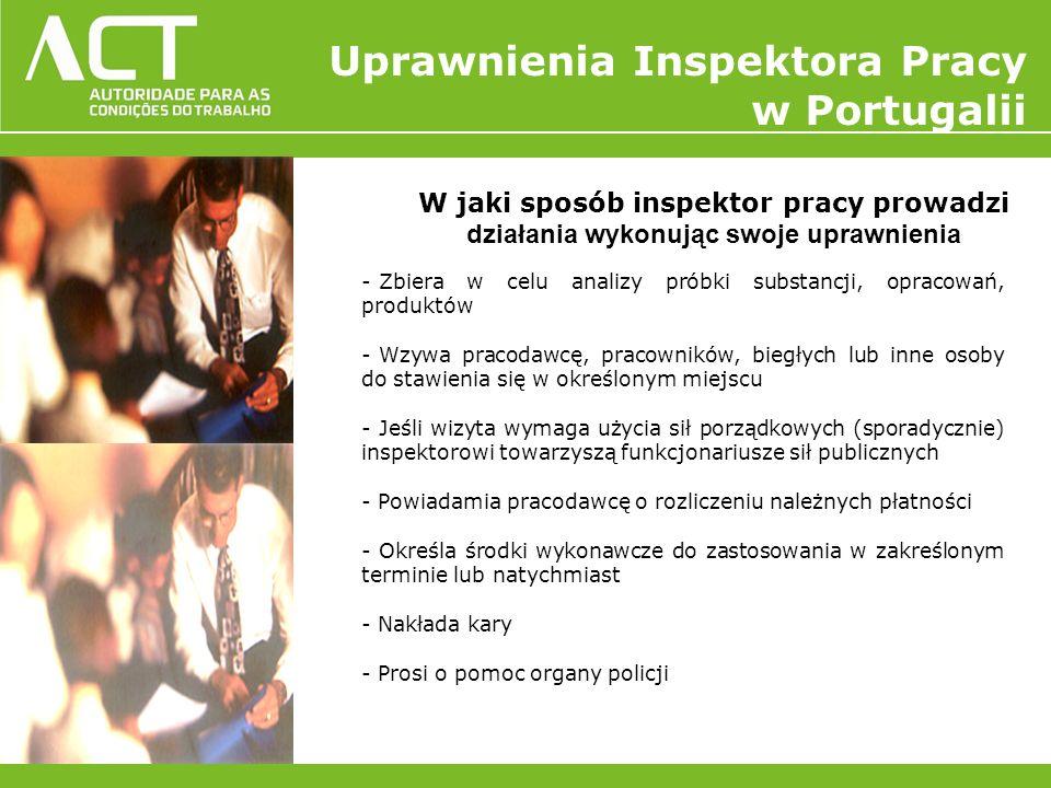 Uprawnienia Inspektora Pracy w Portugalii