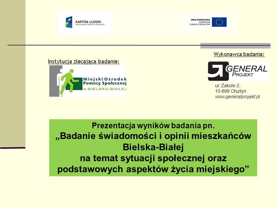 Wykonawca badania: Instytucja zlecająca badanie: ul. Zakole 2; 10-699 Olsztyn. www.generalprojekt.pl.