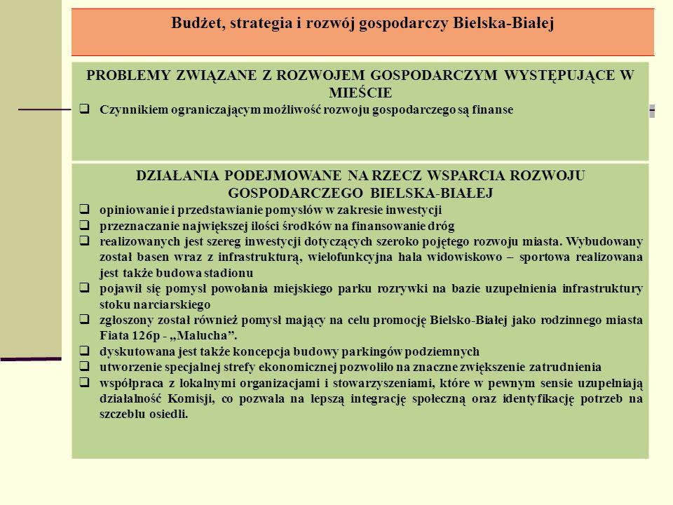 Budżet, strategia i rozwój gospodarczy Bielska-Białej