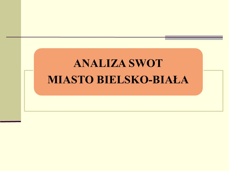 ANALIZA SWOT MIASTO BIELSKO-BIAŁA