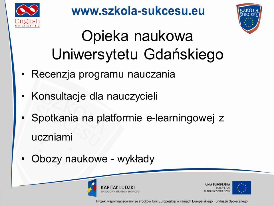 Opieka naukowa Uniwersytetu Gdańskiego