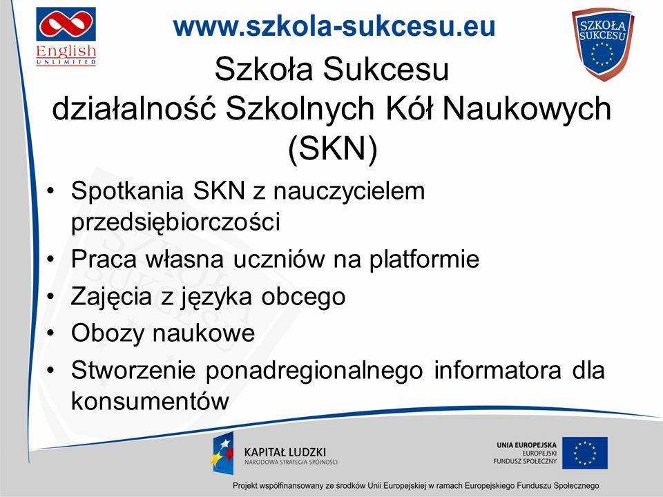 Szkoła Sukcesu działalność Szkolnych Kół Naukowych (SKN)