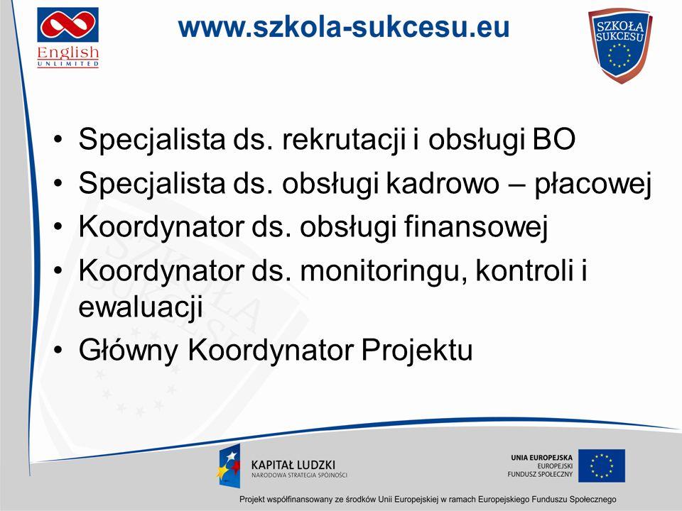 Specjalista ds. rekrutacji i obsługi BO
