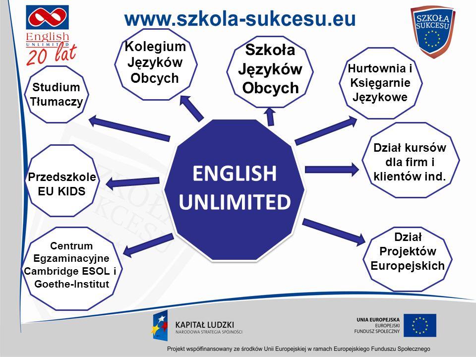 ENGLISH UNLIMITED Szkoła Języków Obcych Kolegium Języków Obcych
