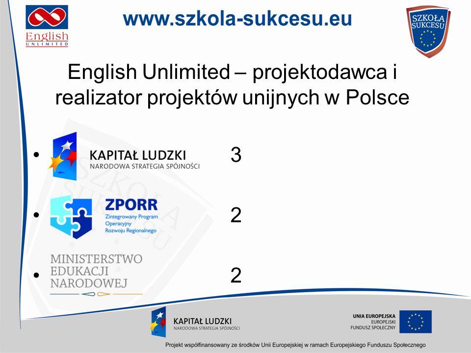 English Unlimited – projektodawca i realizator projektów unijnych w Polsce