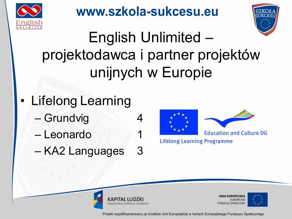 English Unlimited – projektodawca i partner projektów unijnych w Europie