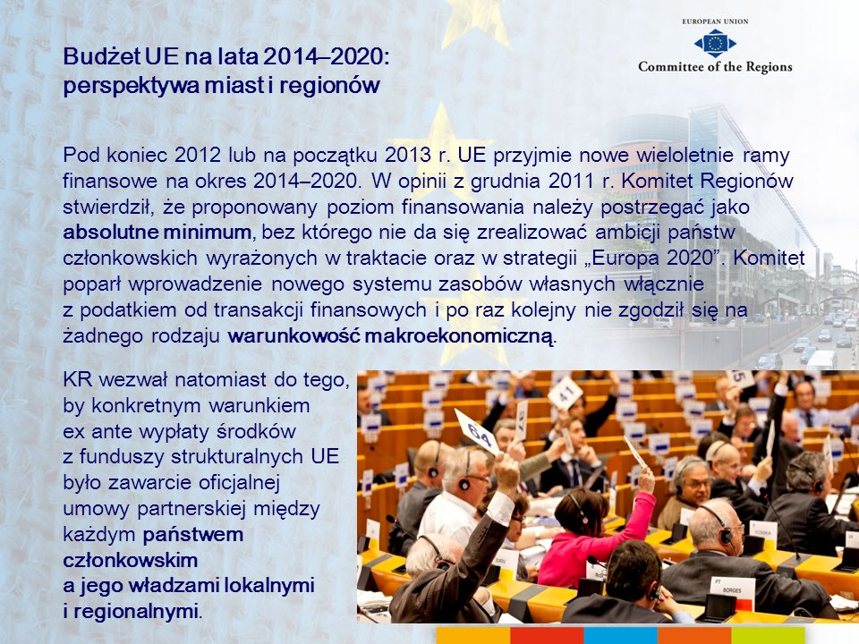 Budżet UE na lata 2014–2020: perspektywa miast i regionów