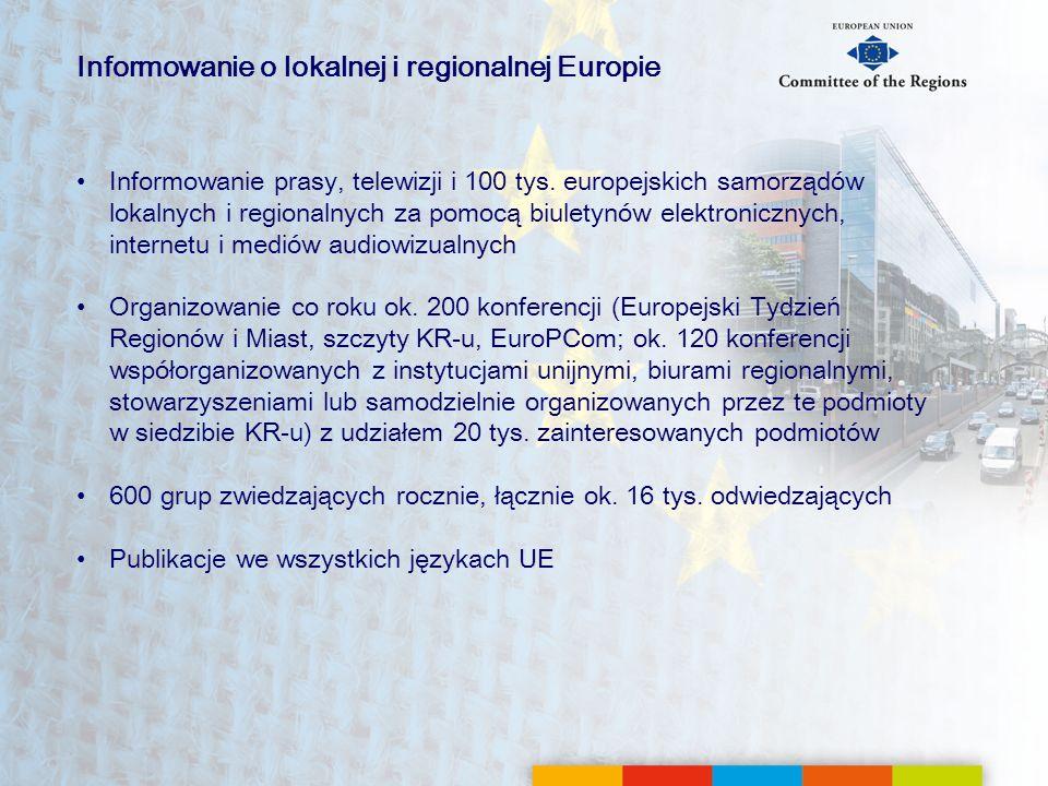 Informowanie o lokalnej i regionalnej Europie