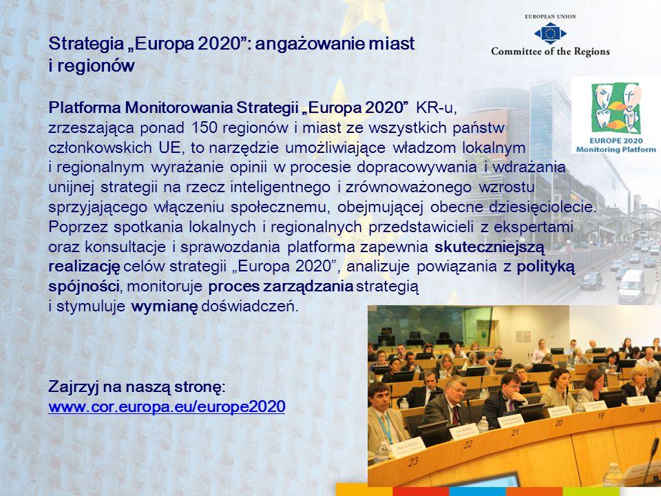 """Strategia """"Europa 2020 : angażowanie miast i regionów"""