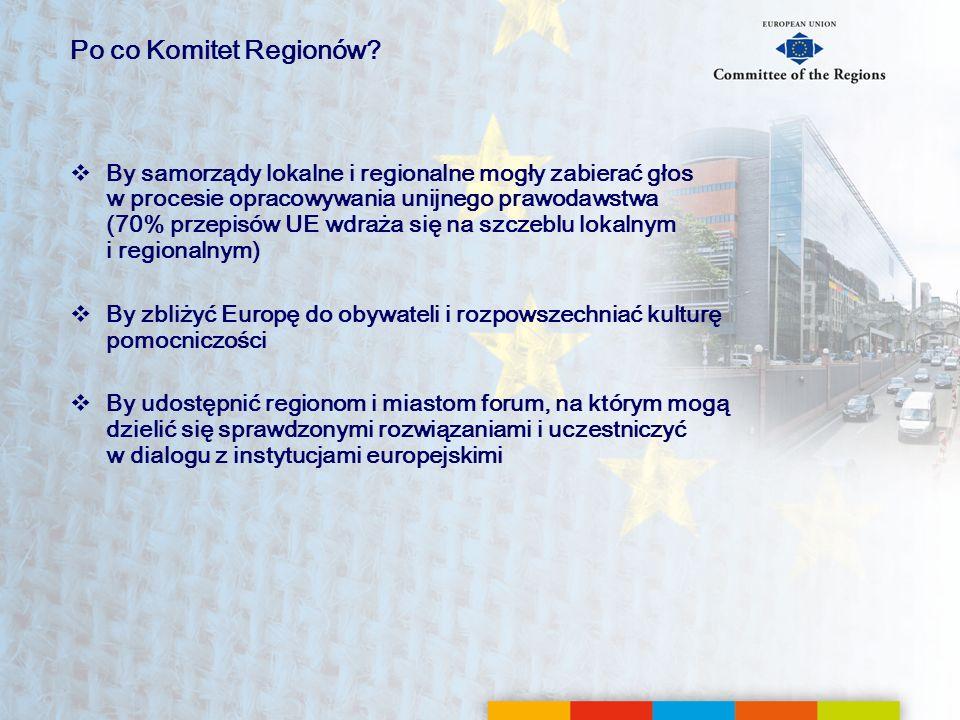 Po co Komitet Regionów
