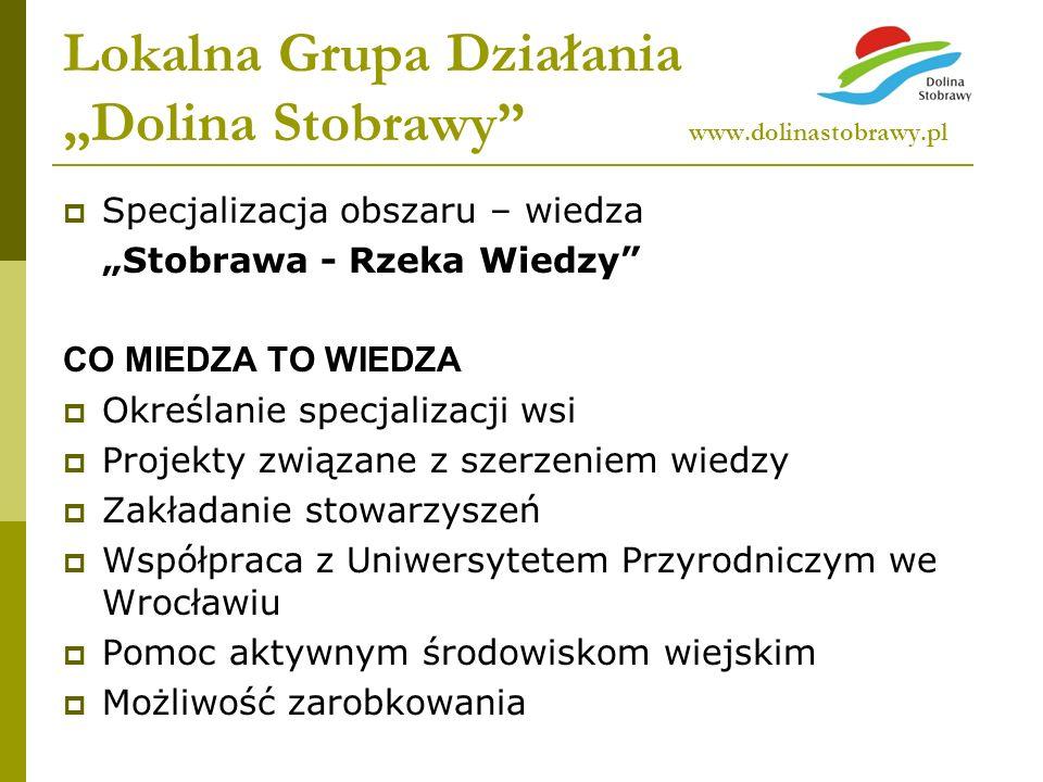 """Lokalna Grupa Działania """"Dolina Stobrawy www.dolinastobrawy.pl"""