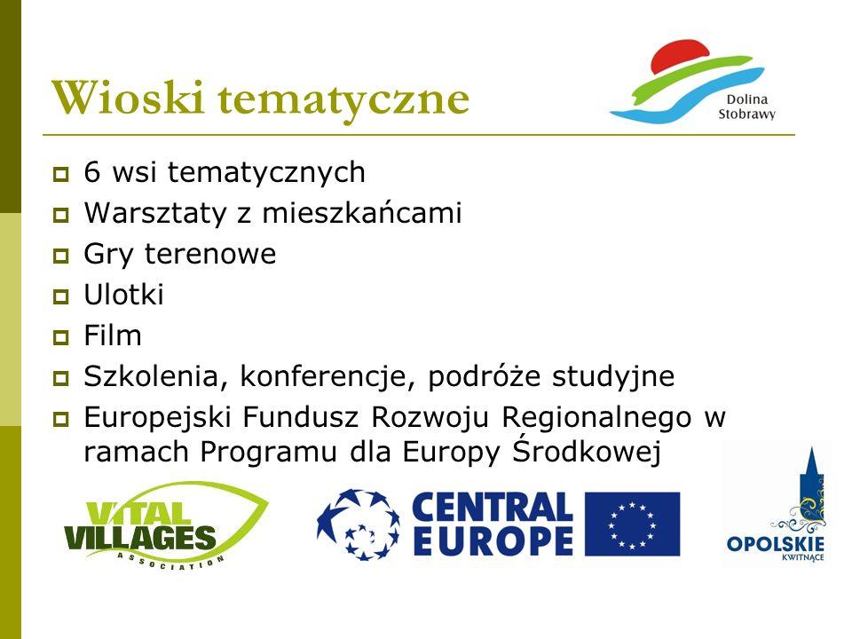Wioski tematyczne 6 wsi tematycznych Warsztaty z mieszkańcami