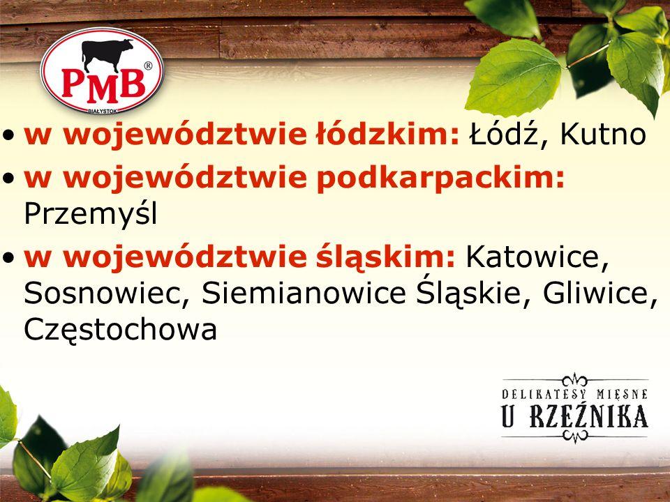 w województwie łódzkim: Łódź, Kutno