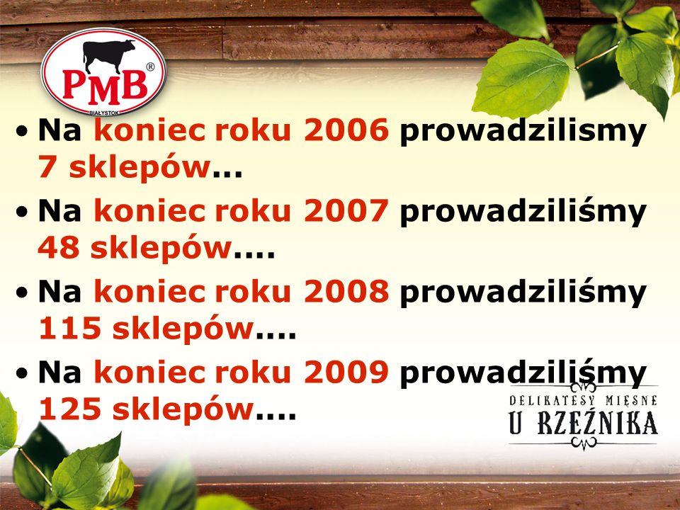 Na koniec roku 2006 prowadzilismy 7 sklepów...