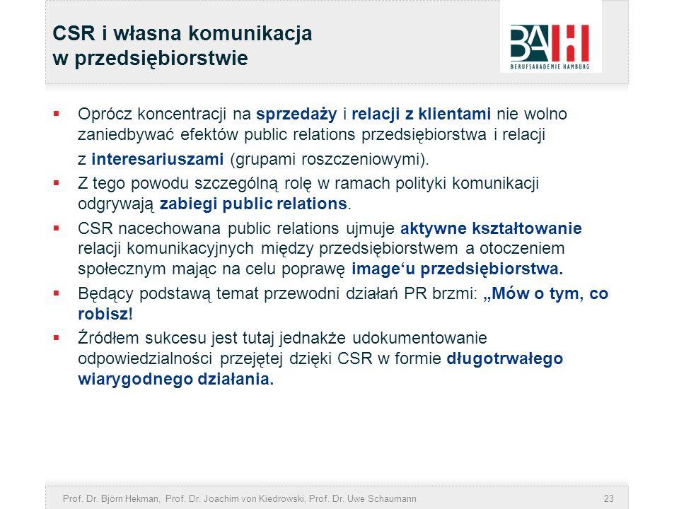 CSR i własna komunikacja w przedsiębiorstwie