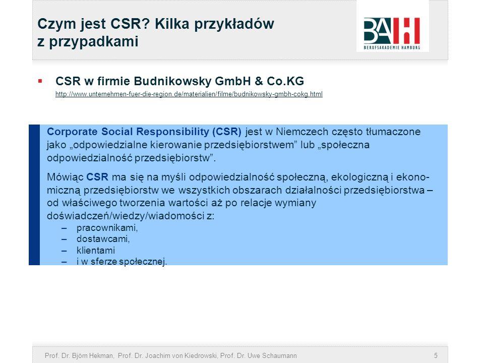 Czym jest CSR Kilka przykładów z przypadkami