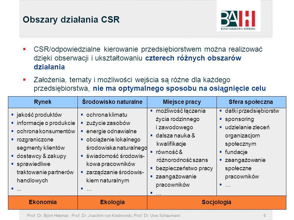 Obszary działania CSR