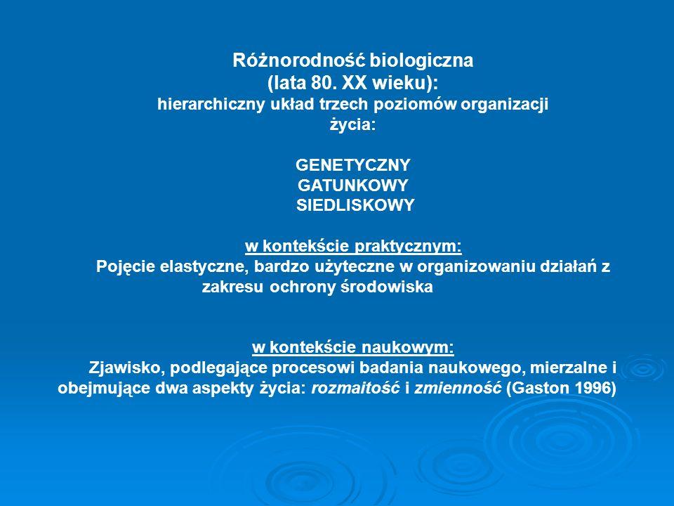 Różnorodność biologiczna (lata 80. XX wieku):