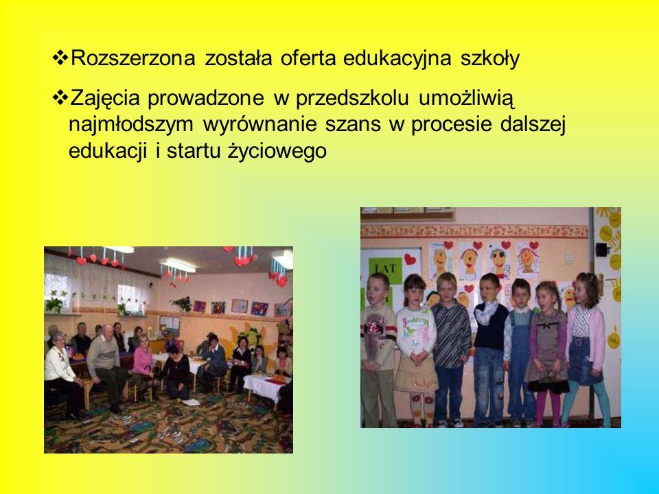 Rozszerzona została oferta edukacyjna szkoły