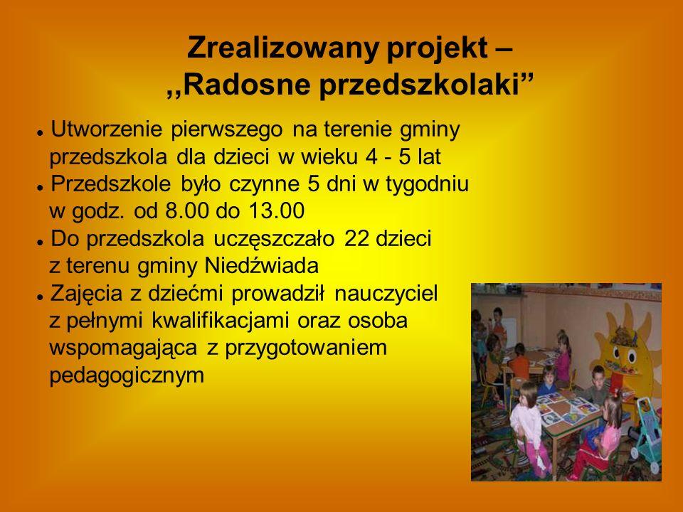 Zrealizowany projekt – ,,Radosne przedszkolaki