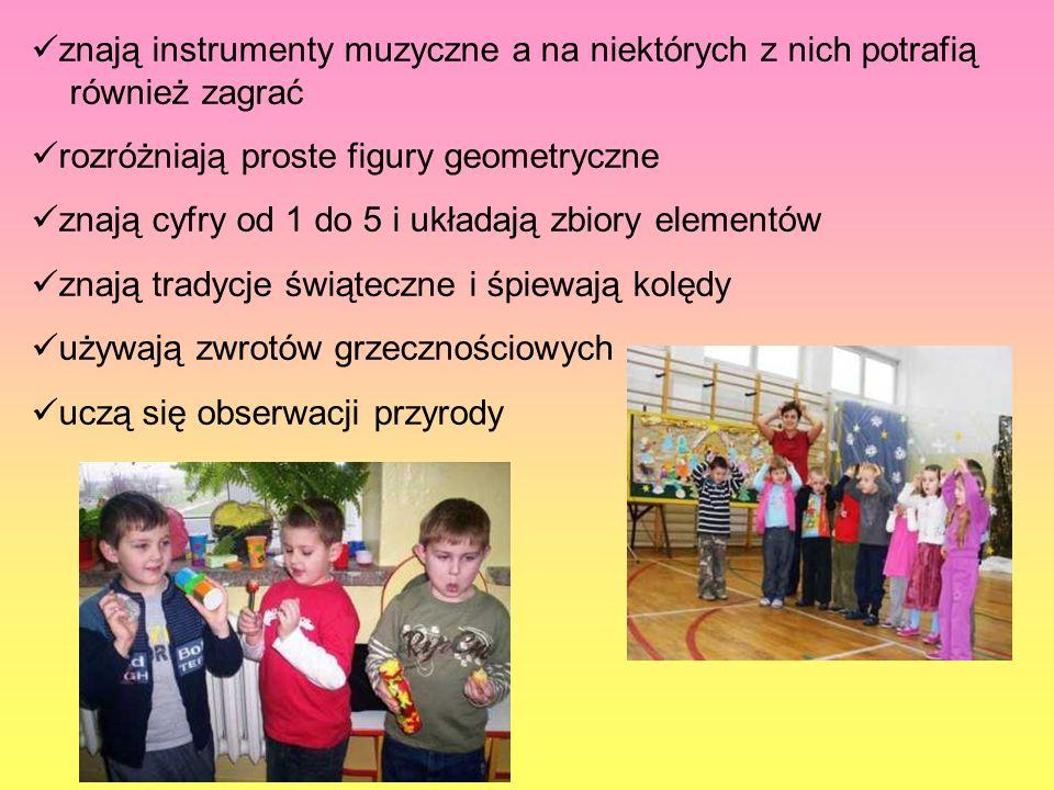 znają instrumenty muzyczne a na niektórych z nich potrafią również zagrać