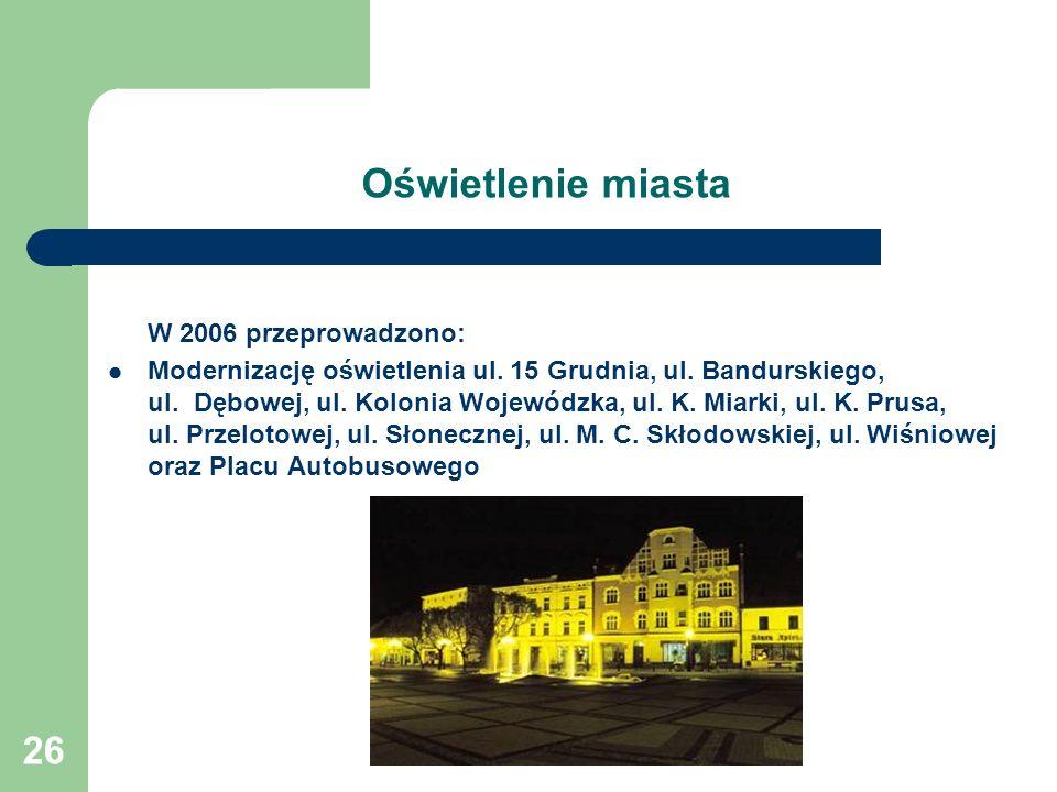 Oświetlenie miasta W 2006 przeprowadzono: