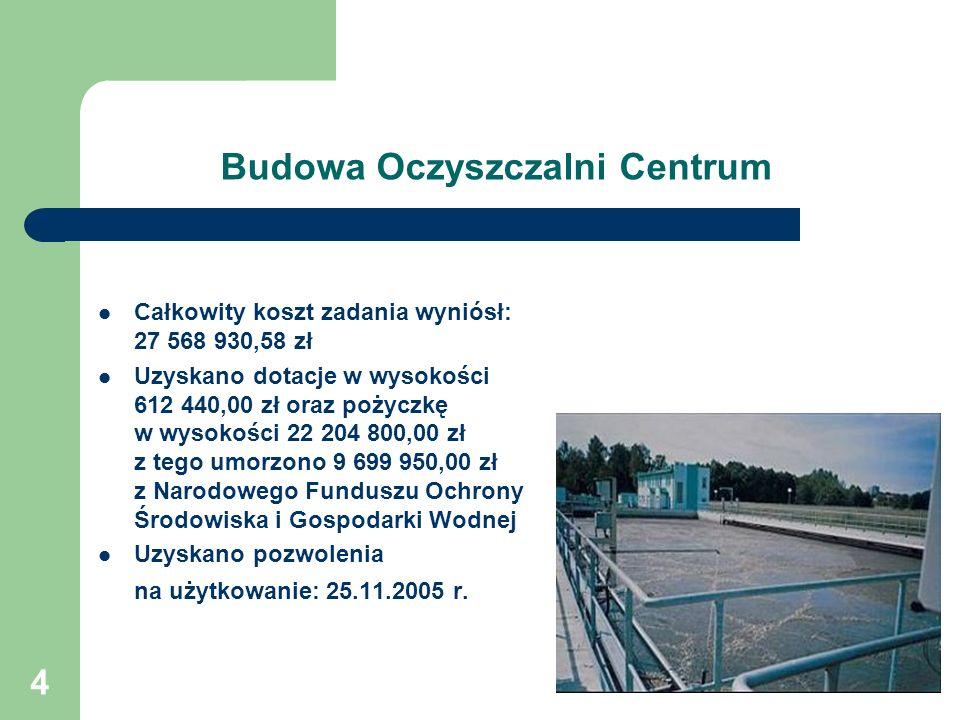 Budowa Oczyszczalni Centrum