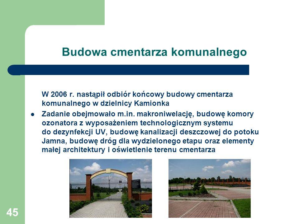 Budowa cmentarza komunalnego