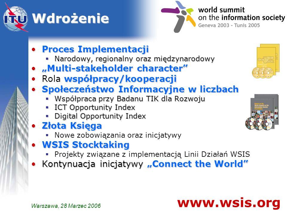 Wdrożenie www.wsis.org Proces Implementacji