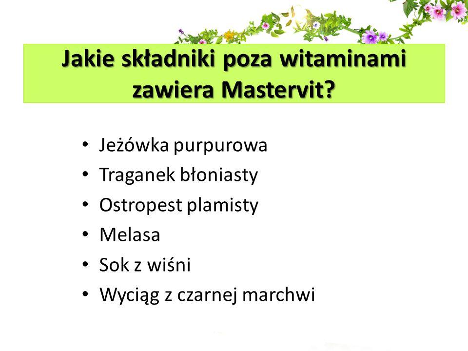 Jakie składniki poza witaminami zawiera Mastervit